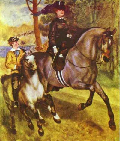 Morning Ride in the Bois de Boulogne - Pierre Auguste Renoir
