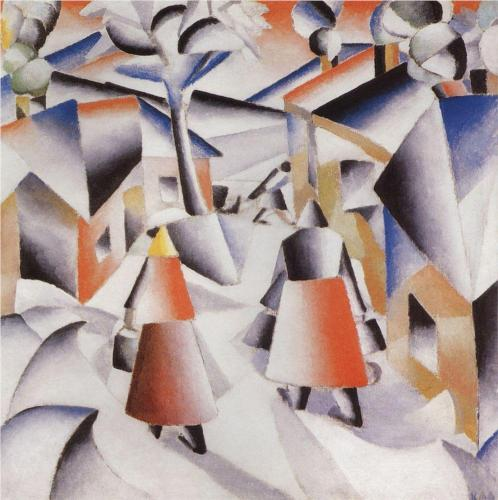 Morning in the Village after Snowstorm - Kazimir Malevich