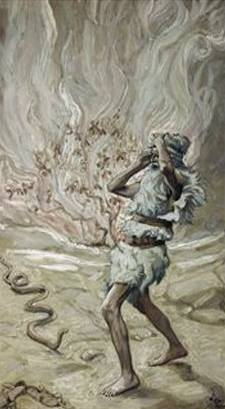 James Tissot - Moses' Rod is Turned into a Serpent