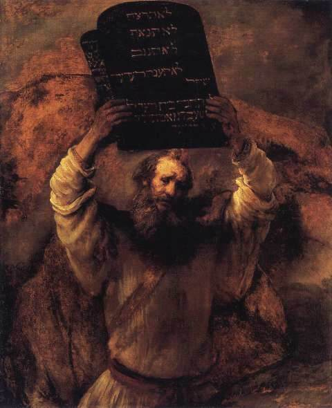 Moses Smashing the Tables of the Law - Rembrandt van Rijn