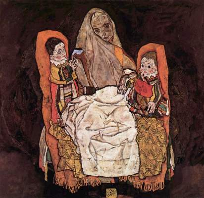 Mother with Two Children - Egon Schiele