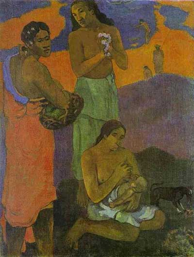 Motherhood (Woman on the Shore) - Paul Gauguin