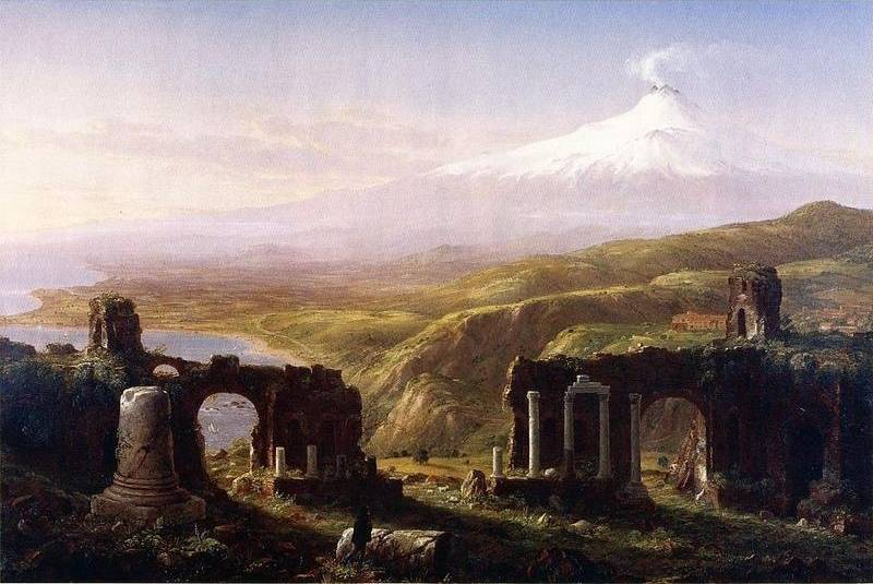 Mount Aetna from Taormina, Sicily - Thomas Cole