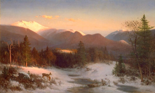 Mount Lafayette in Winter - Thomas Hill