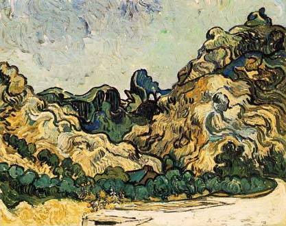 Mountains at St Remy - Vincent van Gogh