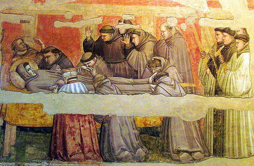 Mourning of St. Francis - Giotto di Bondone