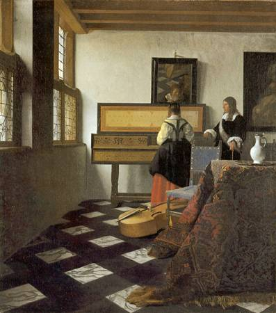 Music Lesson - Jan Vermeer van Delft