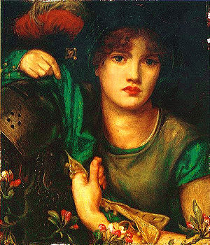 My Lady Greensleeves - Dante Gabriel Rossetti