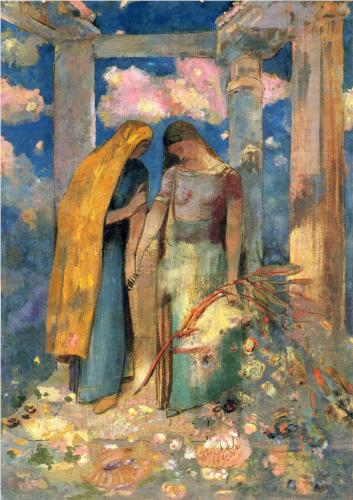 Mystical Conversation - Odilon Redon