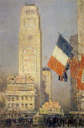 New York Bouquet, West Forty Second Street - Childe Hassam