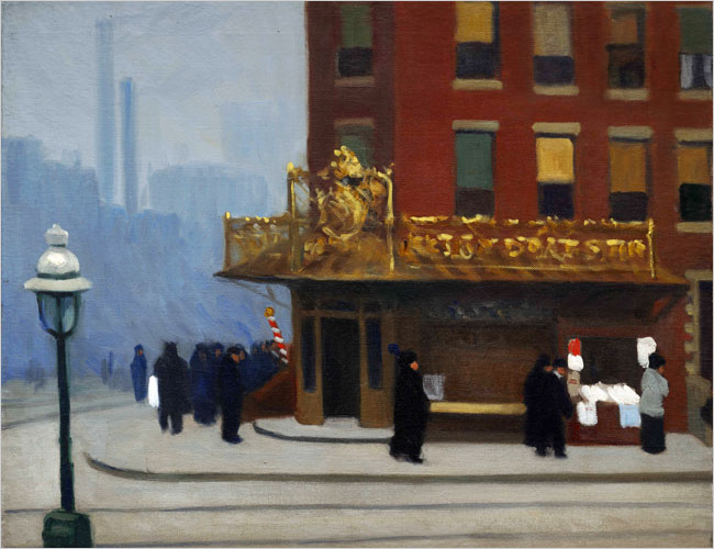 New York Corner (Corner Saloon) - Edward Hopper