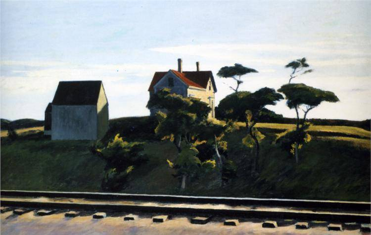 New York New Haven and Hartford - Edward Hopper