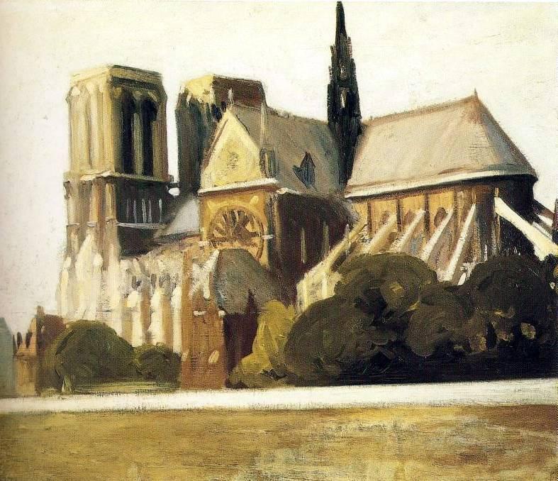 Notre Dame de Paris - Edward Hopper