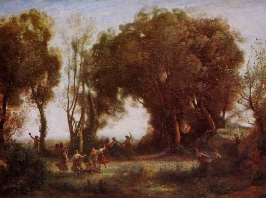 Nymphs - Jean Baptiste Camille Corot