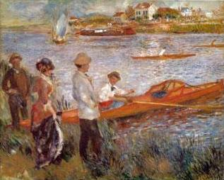 Oarsman at Chateau - Pierre Auguste Renoir