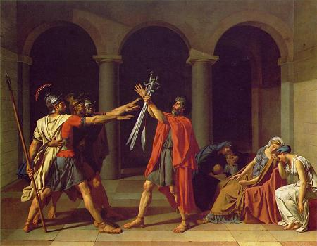 Oath of Horatii - Jacques Louis David
