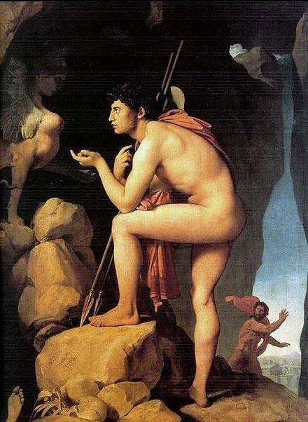 Oedipus and the Sphinx - Jean Auguste Dominique Ingres