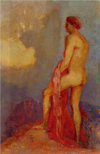 Oedipus in the Garden of Illusions - Odilon Redon