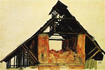 Old Brick House in Carinthia - Egon Schiele