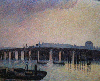 Old Chelsea Bridge, London - Camille Pissarro