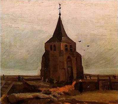 Old Church Tower at Nuenen - Vincent van Gogh