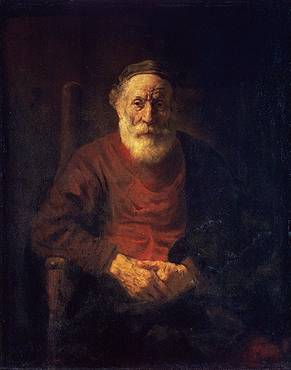 Old Man in Red - Rembrandt van Rijn
