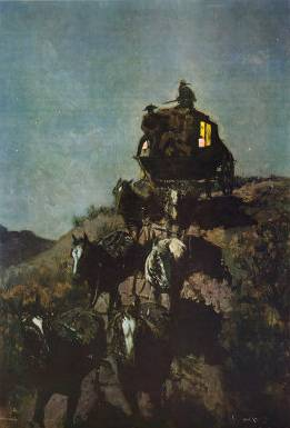 Old Stage Coach - Frederic Remington