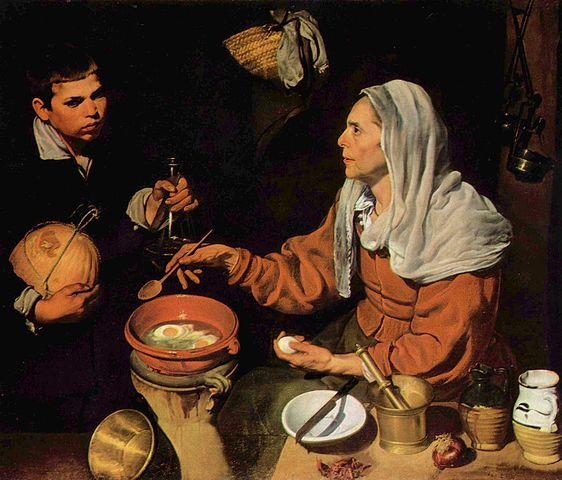 Old Woman Frying Eggs - Diego Velazquez