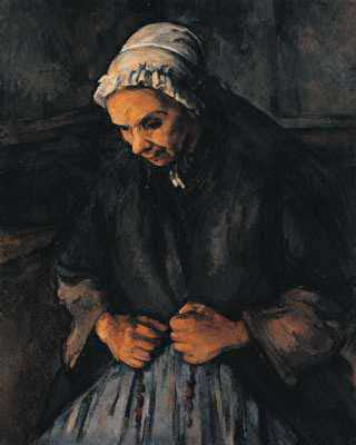 Old Woman with a Rosary - Paul Cezanne