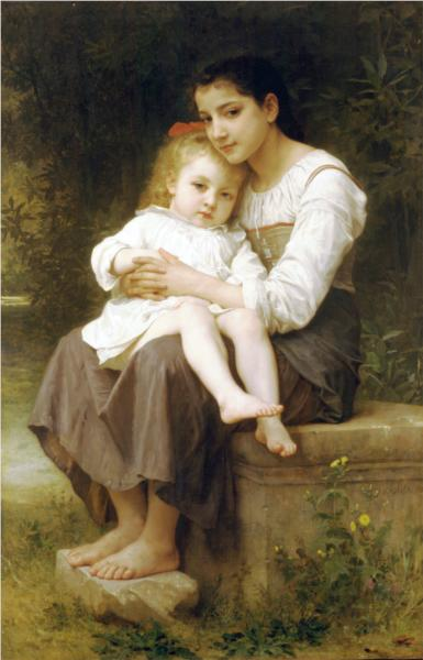Older Sister - William Adolphe Bouguereau