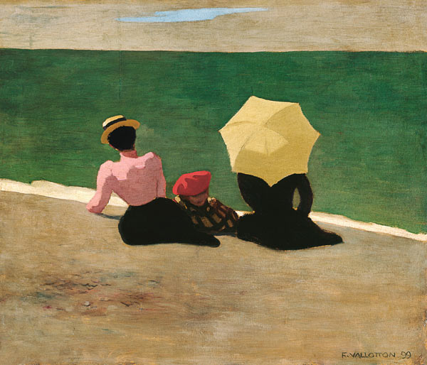 On the Beach - Felix Vallotton