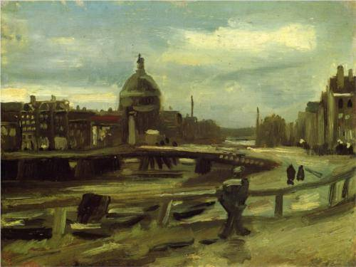 On the Singel in Amsterdam - Vincent Van Gogh