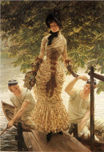 On the Thames - James Tissot