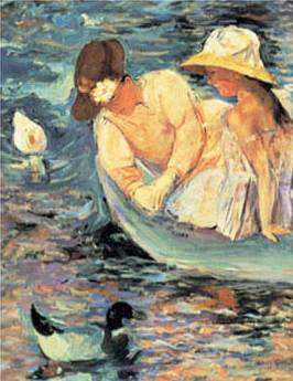 On the Water - Mary Cassatt