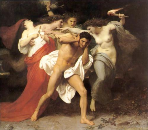 Orestes Pursued by the Furies - William Adolphe Bouguereau