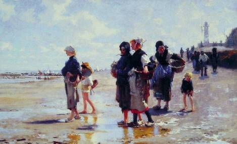 Oyster Gatherers of Cancale - John Singer Sargent