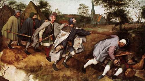 Parable of the Blind Leading the Blind - Pieter Bruegel