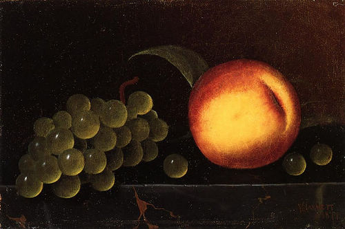 Peaches and Grapes - William Harnett