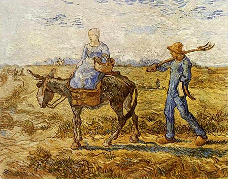 Peasant Couple Going to Work - Vincent van Gogh