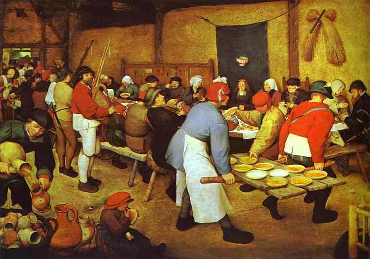 Peasant Wedding - Pieter Bruegel