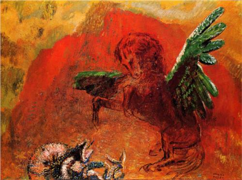 Pegasus and the Hydra - Odilon Redon