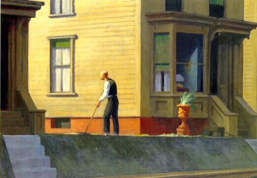 Summer Evening by Edward Hopper Framed Painting Print