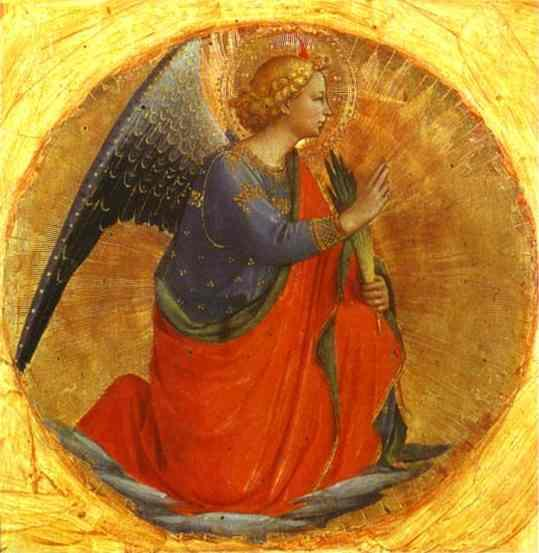 Perugia Triptych Angel of the Annunciation - Fra Angelico