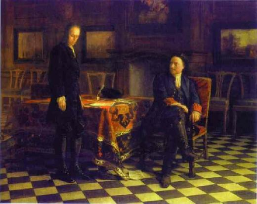 Peter the Great Interrogating the Tsarevich Alexei Petrovich - Nikolay Gay