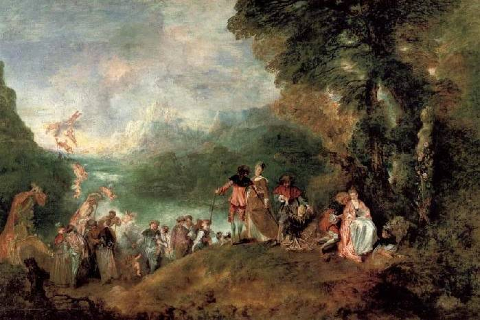 Pilgrimage on the Isle of Cythera - Jean Antoine Watteau