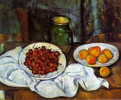 Plate of Cherries - Paul Cezanne