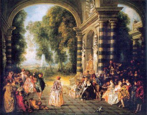Pleasures of the Ball - Jean Antoine Watteau