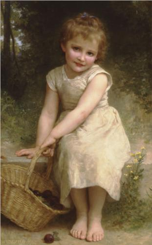 Plums - William Adolphe Bouguereau