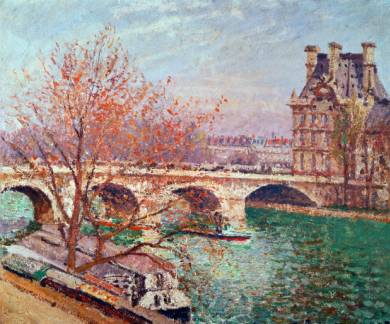 Pont Royal and the Pavillon De Flore - Camille Pissarro