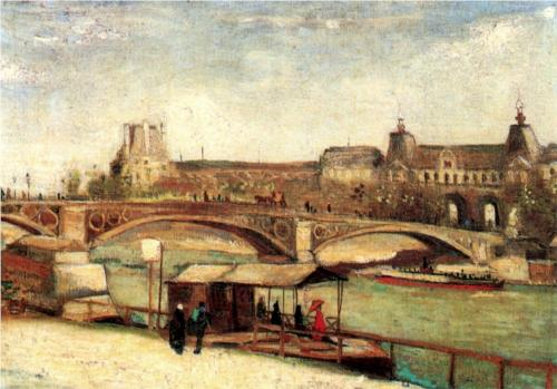 Pont du Carrousel and the Louvre - Vincent Van Gogh